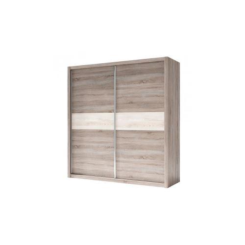 Armoire NADIA 200 x 212 x 60 cm - Couleur: Chêne blanc