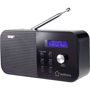 renkforce dab kofferradio rf dab mono1 dab ukw noir baladeur radio achat prix fnac. Black Bedroom Furniture Sets. Home Design Ideas