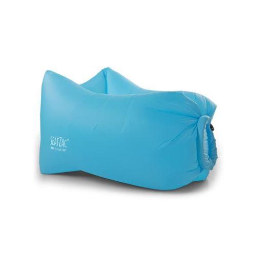 seatzac fauteuil gonflable en polyester avec light kit led - 100x70x80cm - bleu