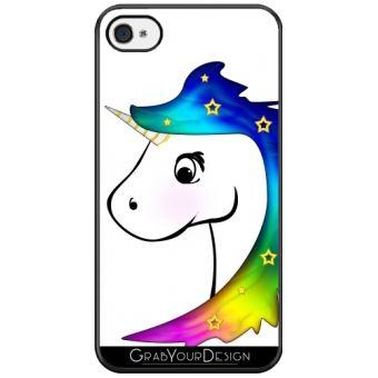coque silicone iphone 4 licorne