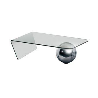 Table basse MUNDO Verre trempé et acier