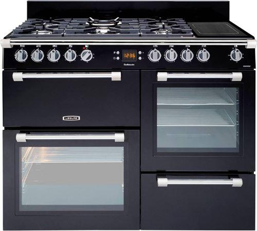 Leisure Cookmaster CK110F324K - Cuisinière (four à deux étages) - pose libre - largeur : 110 cm - profondeur : 60 cm - hauteur : 90 cm - avec système auto-nettoyant - noir
