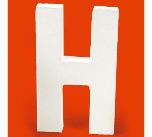 Lettre en carton H