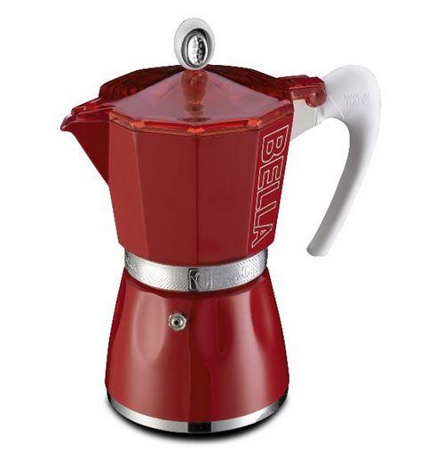 Cafetière italienne 3 tasses rouge - 10803RO - GAT