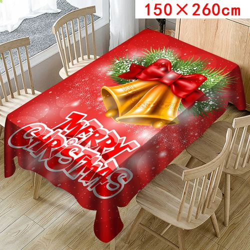 Nappe de Noël Imprimer Rectangle Table Cover Holiday Party Home Decor_Kiliaadk340