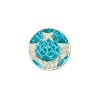 tapis fleur de vie shantimat turquoise achat prix fnac - Tapis Fleur