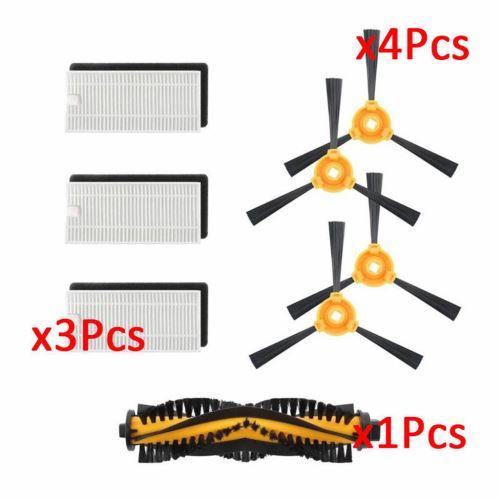 8pcs N79 N79s Filtre & Side & Brosses Pour Ecovacs DEEBOT Robotic Aspirateur