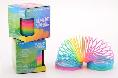 Funtoy step spring couleurs au néon 10cm