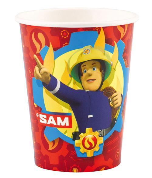 Amscan tasses de fête Pompier Sam 250 ml 8 pièces
