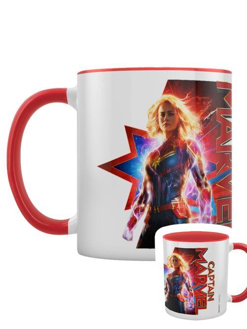 Captain Marvel Tasse Earths Defender blanc