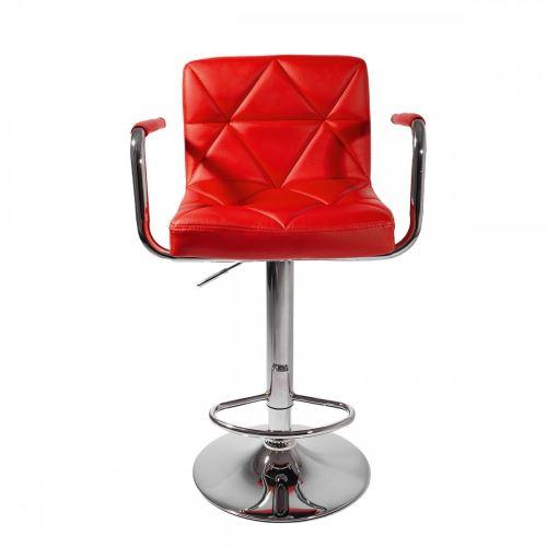 Design Lot Tabourets Malvy Avec Réglables Rouge 2 Accoudoirs Bar PiOXkZu