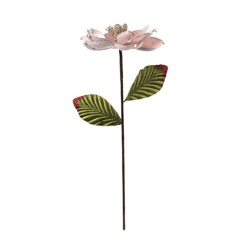 tige magnolia velours rose cŒur pailleté