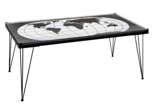 Table basse en métal rectangulaire coloris noir - L. 110 x l. 60 x H. 52 cm -PEGANE-