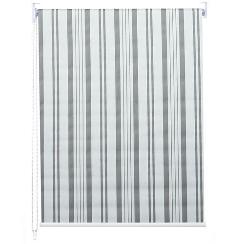 Store à enrouleur pour fenêtres, HWC-D52, avec chaîne, avec perçage, isolation, opaque, 100 x 230 ~ gris/blanc