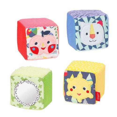 Fehn cube set Color Friendsjunior 7 cm peluche 4-pièces