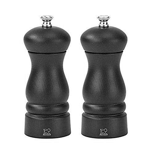 Duo moulins à Sel et Poivre Noir Mat 13 cm - Clermont - Peugeot