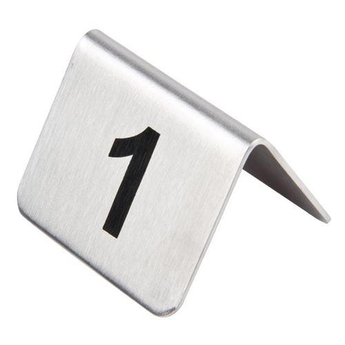 Lot de numéros de table en acier inoxydable olympia 11-20