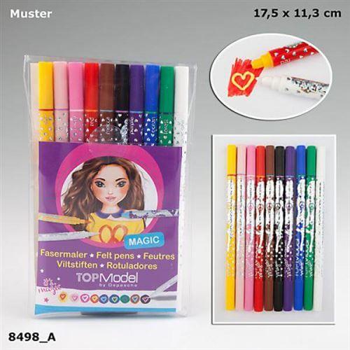Depesche 8498 Top Model Double Feutres Magic 10 couleurs, stylet