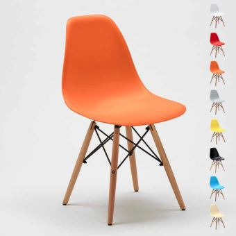 salle Chaise manger Design WOODEN à bar Eames DSW scandinave dBorxCe