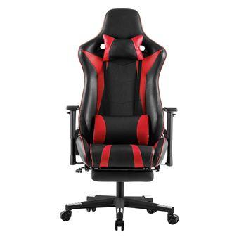 LANGRIA en chaise Faux de et Rouge Gaming Fauteuil Bureau CuirNoir qVpzSUM