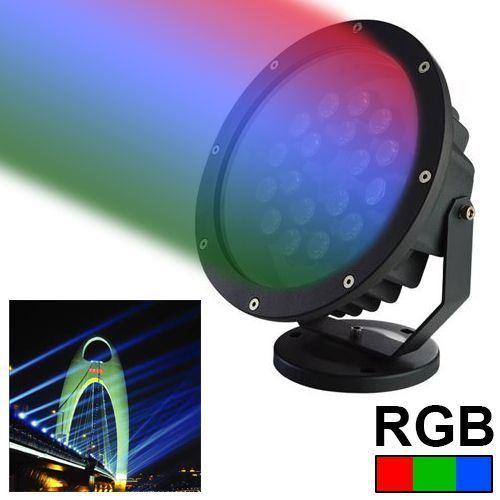 Projecteur 15 LED 1W Rouge Vert Bleu jour spot lumineux extérieur 120 Lumens 15W - YONIS