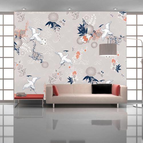 Papier peint - Wild herons - 400x280 - Orient -