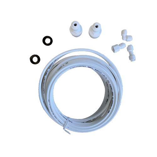Kit lyre arrivee d'eau : tuyau (6m) + raccords UKT001 Réfrigérateur, congélateur 484000008590, C00379990 WPRO AEG, ARISTON HOTPOINT, DE DIETRICH, NEFF, SAMSUNG, DAEWOO, ARTHUR MARTIN ELECTROLUX, HAIER - 125878
