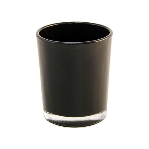 bougeoir noir brillant 5.6x6.5cm