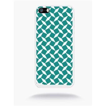 Coque Carreau Bleu Canard Compatible Apple Iphone Se Silicone Blanc Mat