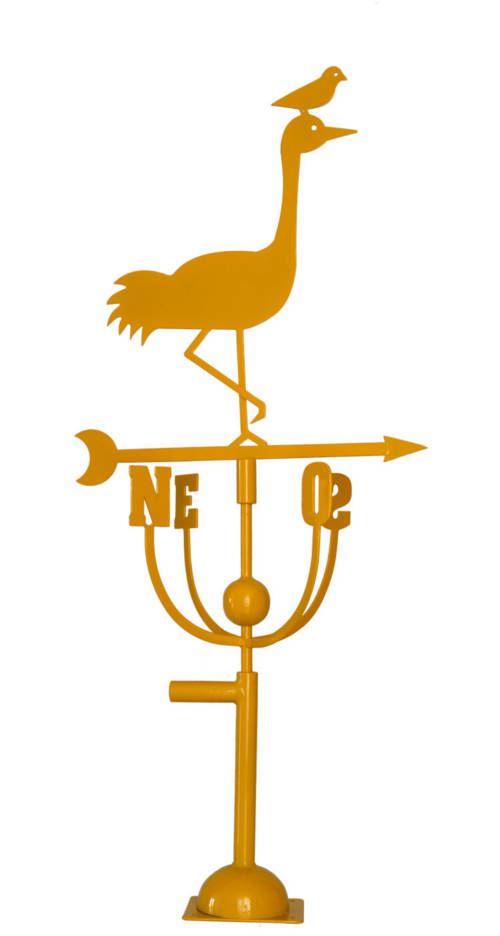 Aubry Gaspard - Girouette design héron jaune