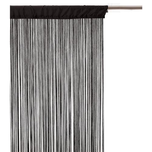 Rideau fils - 90 x 200 cm - Noir
