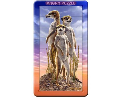 Puzzle 32 Pièces : Mini Puzzles Magnet Suricates, Gigamic