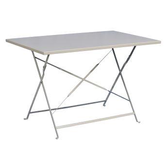 Table De Jardin Plainte Coloris Taupe - Dim : 110 X 70 X 71 Cm ...