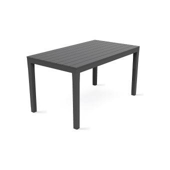 Table de jardin en plastique - Gris - Mobilier de Jardin ...