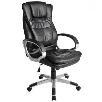 Siège Chaise Bureau Classique De Confortable Noir Ergonomique Fauteuil Rq4LAj35