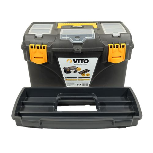Boite à outils 18 432 x 250 x 238 mm Caisse a outils multi-rangement haute résistance