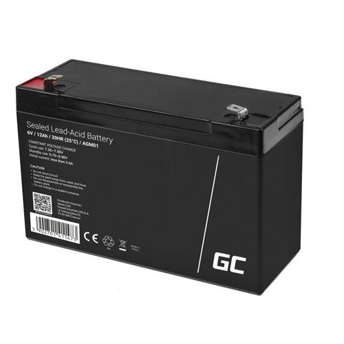 Green Cell AGM Batterie au plomb 6V 12Ah