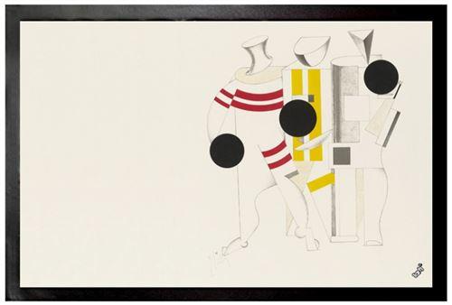 El Lissitzky Paillasson Essuie-pieds - Victoire Sur Le Soleil, Athlètes, 1923 (40x60 Cm)