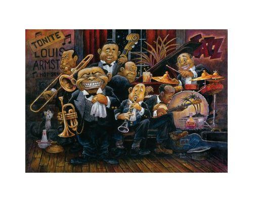Puzzle 1500 Pièces : Bill Bell : Louis Armstrong et son Orchestre, Art Puzzle