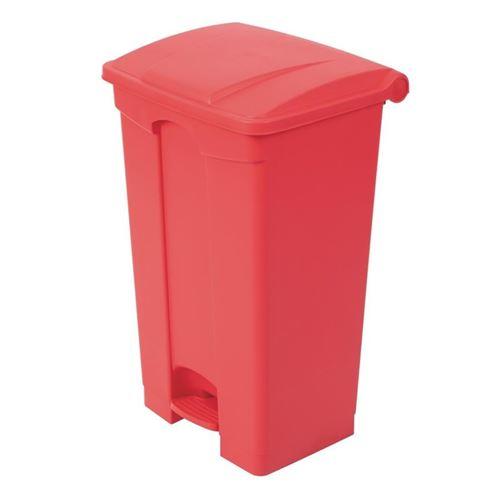 Poubelle de cuisine à pédale 87l rouge