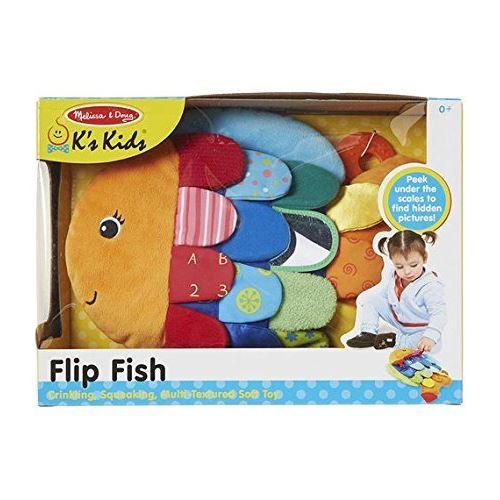 Melissa & Doug Peluche multi-texturée pour bébé, poisson flip, enfant