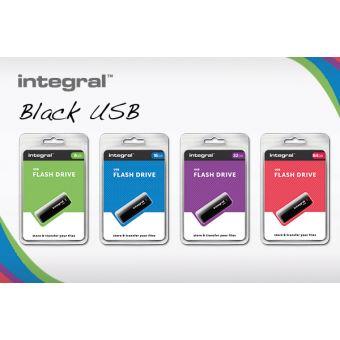 Clé USB 2.0 Integral Memory 64 Go Noire