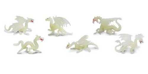 Safari set de jeu Glow-in-the-Dark Toob Dragons junior 6-pièces