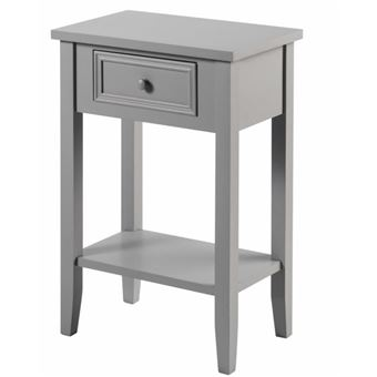 Table De Chevet Charme 1 Tiroir Taupe