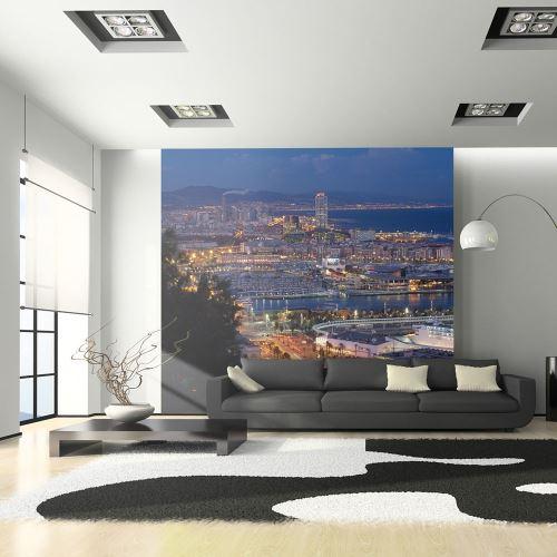Papier peint - Barcelone: nuit - 200x154 - -