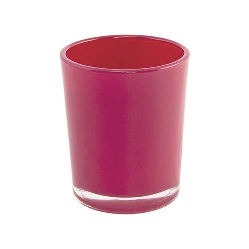 bougeoir rouge brillant 5.6x6.5cm