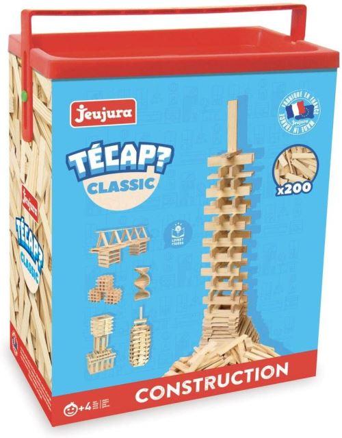 JeuJura - Jouet en bois - Construction - Tecap Classic - Baril 200 Planchettes