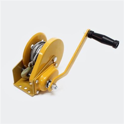 Treuil manuel de halage avec frein 540kg 10m 4.2:1 outils garage atelier bricolage