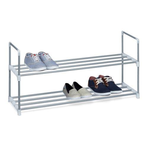 Étagère à chaussures en métal - 2 étages - pour 8 paires de chaus