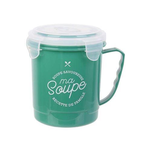 Saveur Et Degustation - Bol à soupe spécial transport 65 cl vert